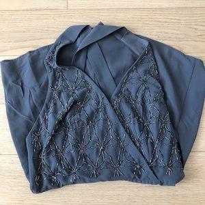 Forever 21 Dark Grey Sequin Dressy Romper Sz M